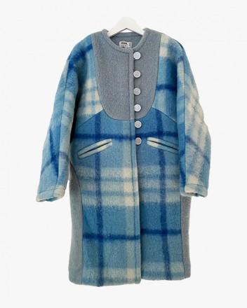 Blue Sophia Long Coat