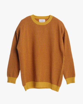 Mustard Striped Knitted...