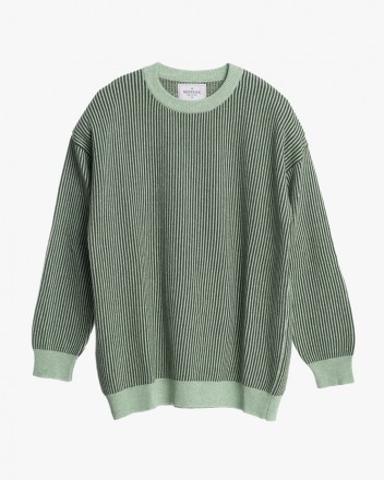 Moss Striped Knitted Sweater