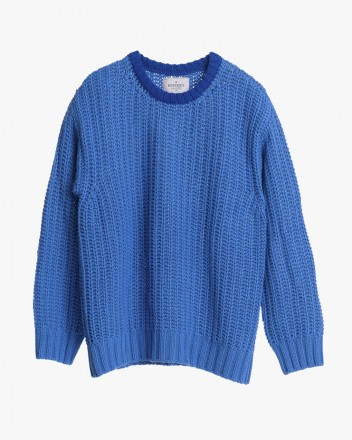 Blue on Blue Chunky Knit...