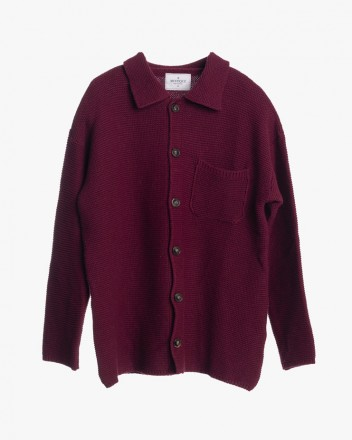 Knitted Cardigan in Burgundy