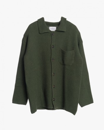 Knitted Cardigan in Olive