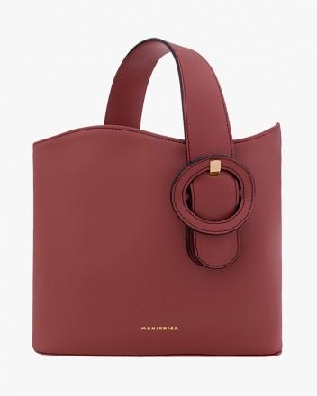Isaura Carmim Handbag