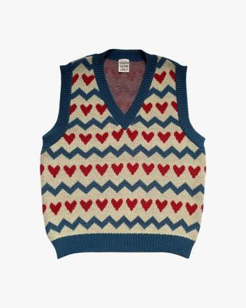 Sweetheart knitted Vest Cobalt
