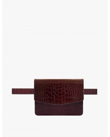 Fanny Pack in Croc Brown