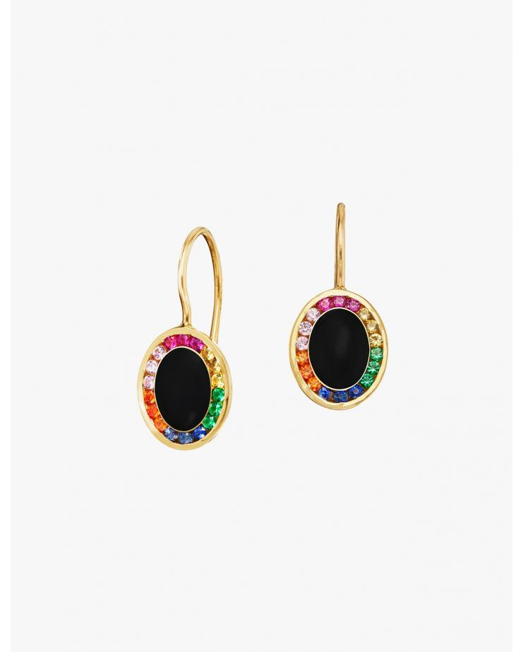 Rainbow Candy Drop Earrings