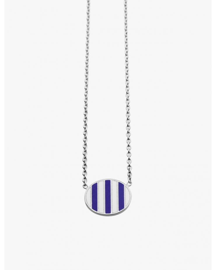Silver Striped Pendant