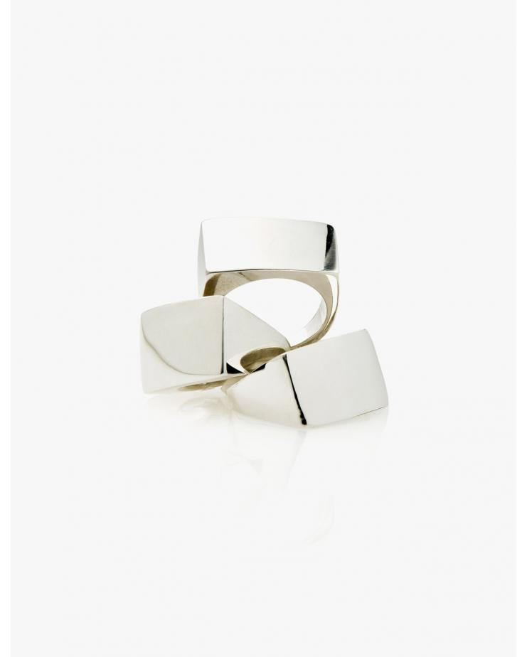 Silver Block Signet Ring