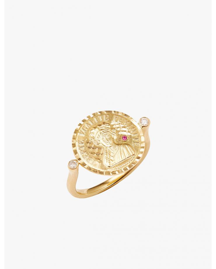 Louise d'Or Coin Ring