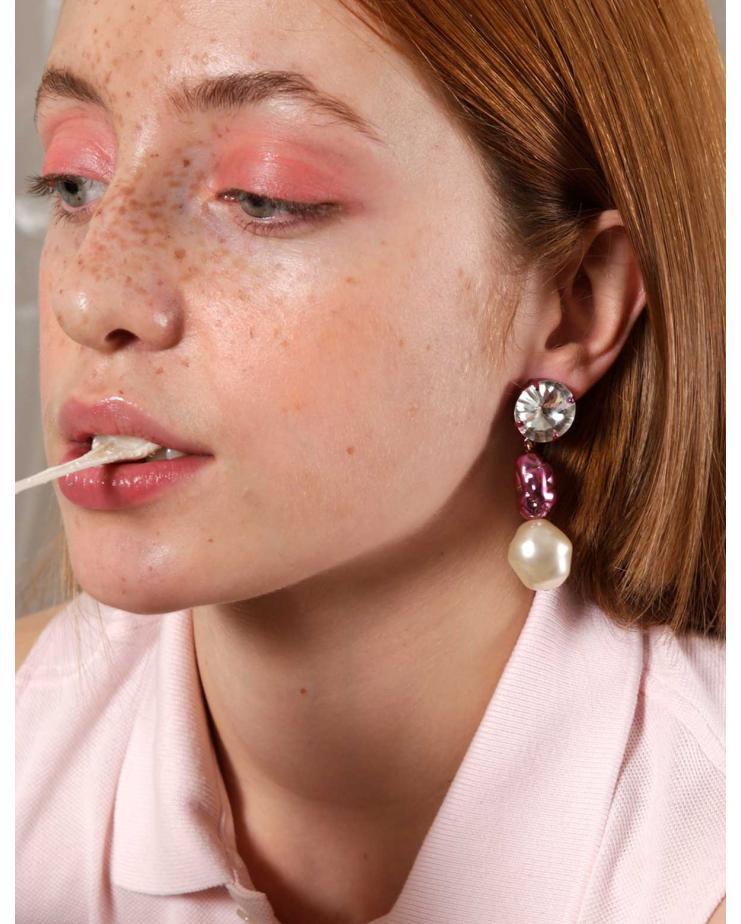 Chewing Gum Pink Earrings