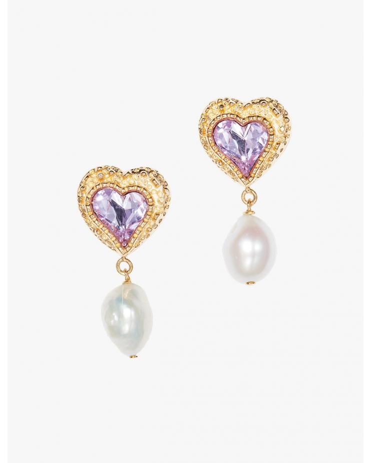 Eden Love Earrings in Pink