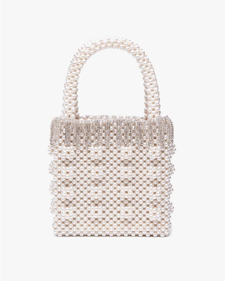 Huckleberry White & Silver Bag
