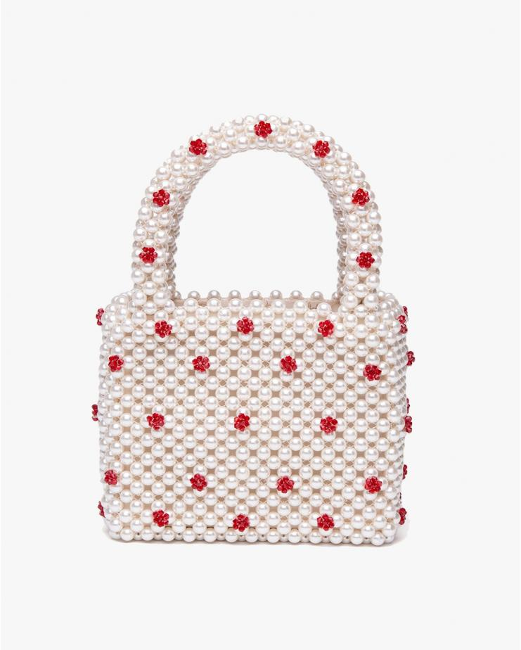 Dolly Cream & Red Bag