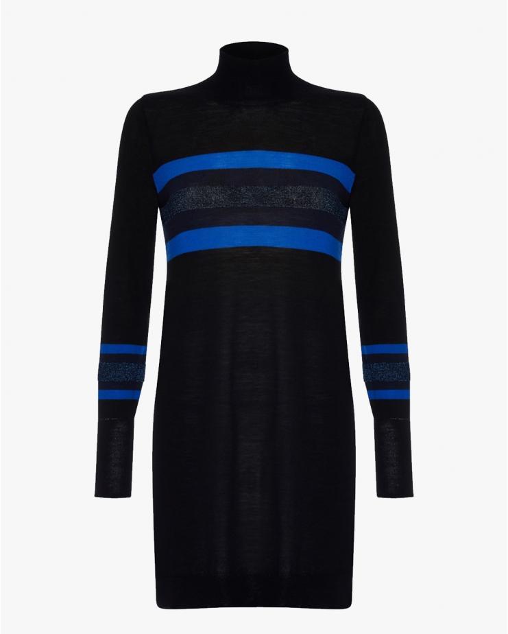 Stripe Polo Knit Dress