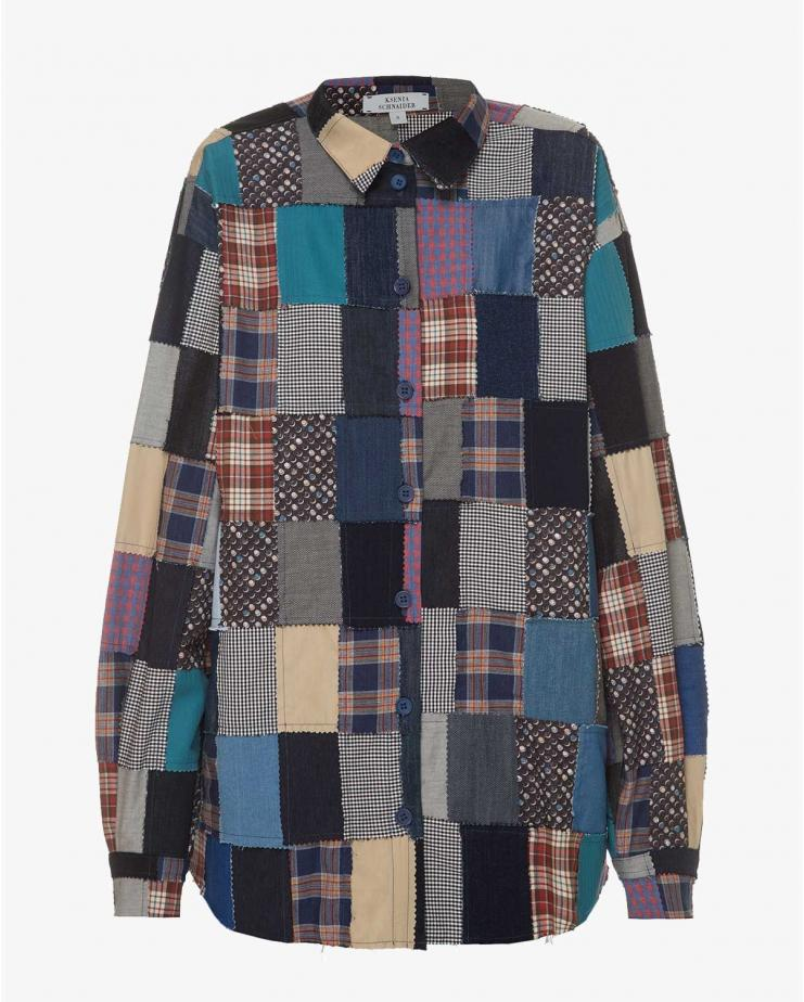 Patchwork Long Sleeve Top