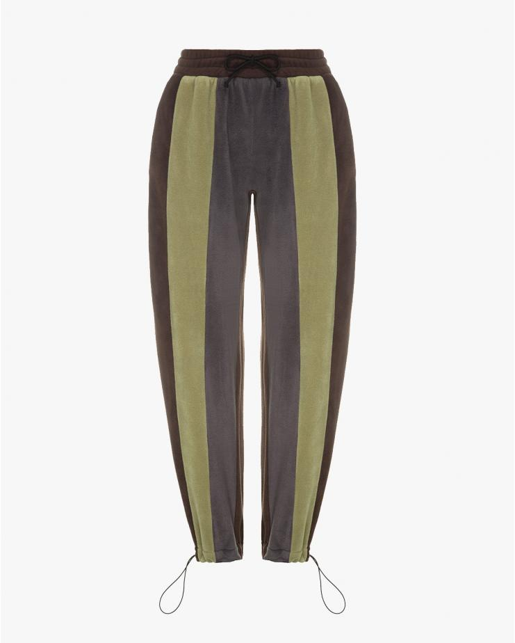 Fleeced Striped Pants
