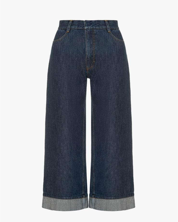 Dark Blue Wide Jeans