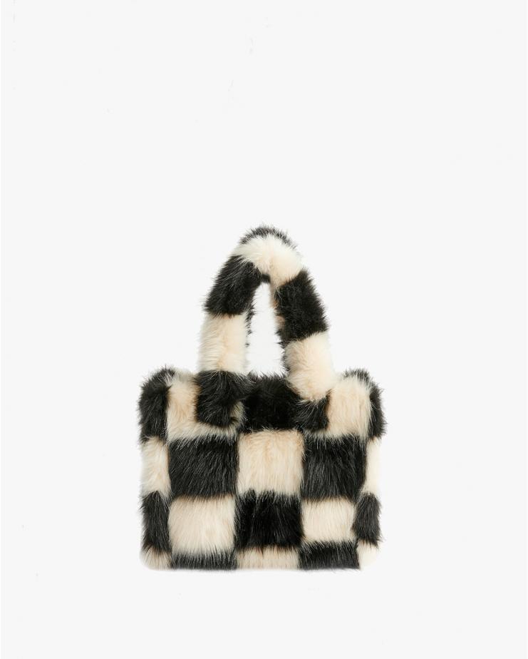 Liz Bag Check Black & White