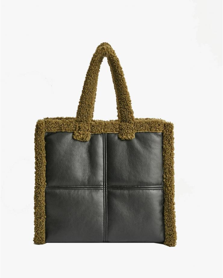 Lola Shearling Bag Army Green
