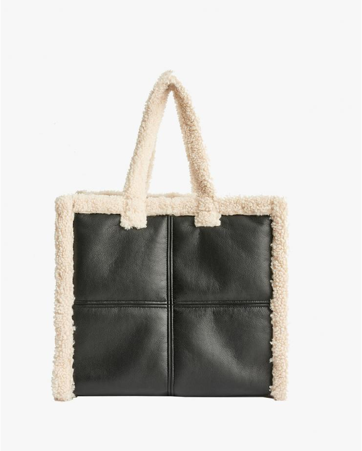 Lola Shearling Bag Black &...