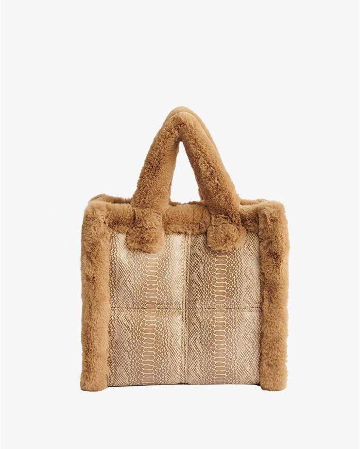Lolita bag Shearling Camel...
