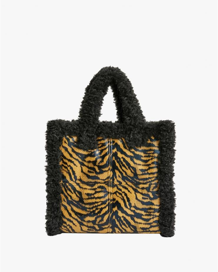 Lolita Shearling Bag Zebra