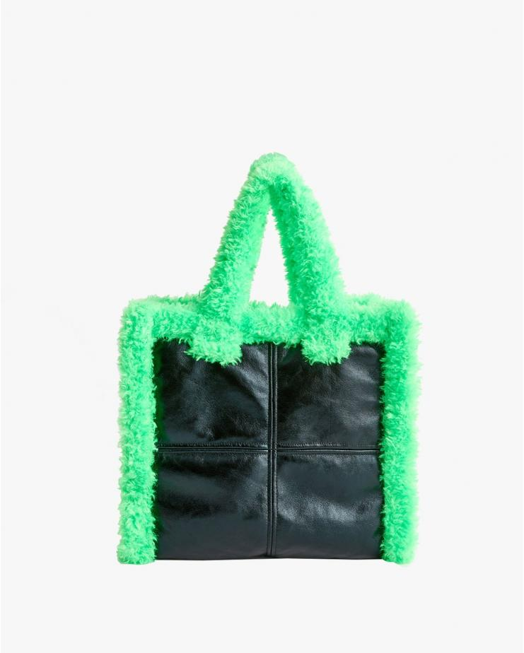 Lolita Shearling Bag Green...