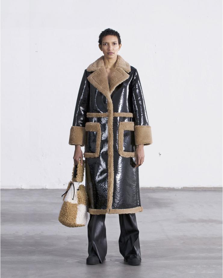 Aubrey Coat Beige & Black