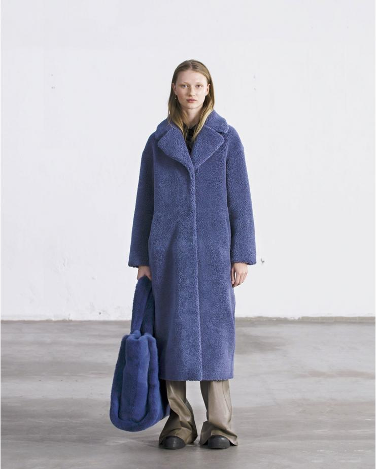 Camille Long Coat Blue
