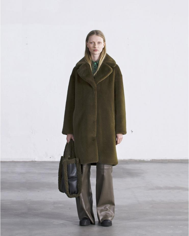 Camille Coat Army Green