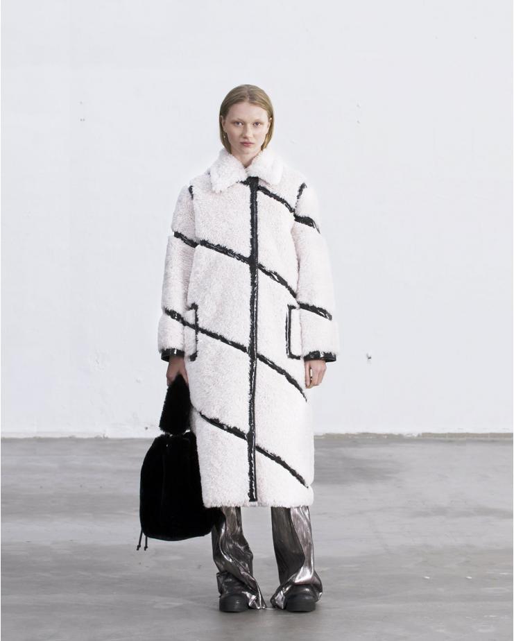 Cleo Coat White