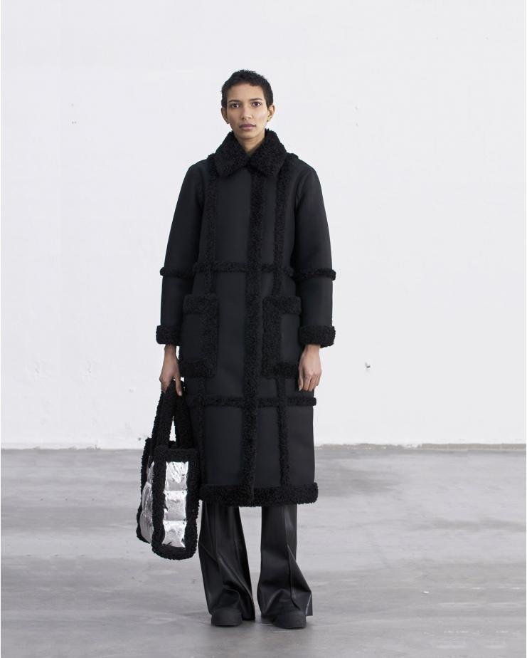Patrice Coat Black