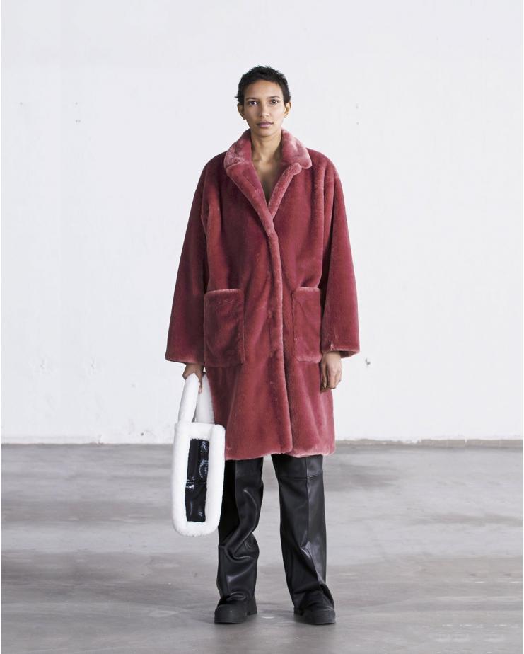 Reyna Coat Rose