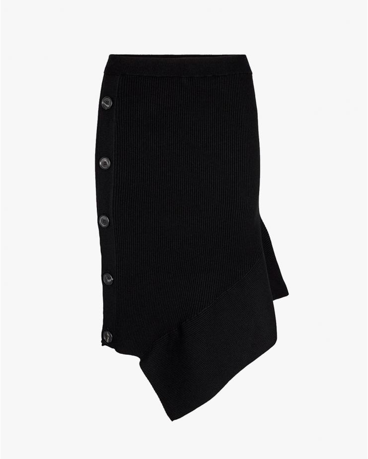 Mandy Button Skirt Black